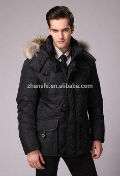 Wholesale Lightweight Reflective Blue Black Double Face Winter Goose Down Coats Men