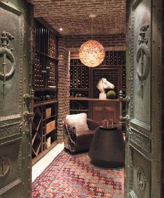 My own personal wine cellar with a disco ball in the center...