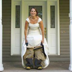 femal firefight, female firefighter wedding