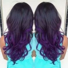 black and purple ombre hair Dye My Hair, Crazy Hair, Hair Dos, Ombre Hair, Gorgeous Hair, Dark Hair, Pretty Hairstyles, Locks, Hair Inspiration