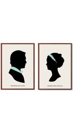 BLAIR CHUCK | One Word, Three Letters Poster : Modern Illustration Gossip Girl…