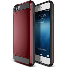 "iPhone 6 Case, Verus [Card Slot Case] iPhone 6 4.7"" Case [Damda Slide][Poppy Red] - Dual Layer Protective Card Case - Verizon, AT&T, Sprint, T-Mobile, International, and Unlocked - Case for Apple iPhone 6 4.7 Inch Late 2014 Model"