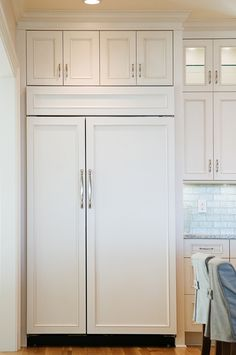 "48"" Subzero Refrigerator, Cozy Kitchens Group, OBX, NC. Photography by ©Elizabeth Kiourtzidis"