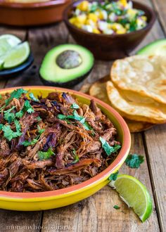 This Slow Cooker Spicy Pork Carnitas recipe is the easiest carnitas you will ever make– it takes less than 5 minutes to throw the ingredients into a slow cooker. Pork goodness! http://mommyhoodsdiary.com