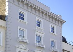 Timber Sash windows in London Hotel