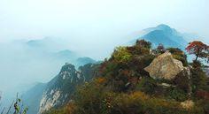 Qinling range, 40 km south of xi'an