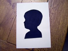 Silhouettes {the five minute version}: This is so simple and so cool. Give this girl a medal!