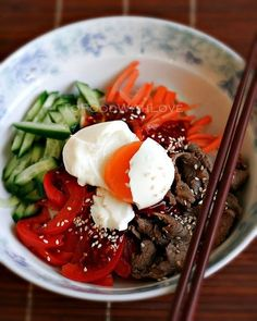 How To Make Beef Bibim Guksu / Bibim Naengmyeon (Mixed Cold Noodles) Beef Recipe