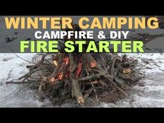Quick demo on how to start a campfire in the winter and also to talk about the firestarter used. Winter Camping, Fire Starters, Survival Guide, Campfires, Camping Ideas, Hiking, Survival Guide Book, Fire Pits, Walks