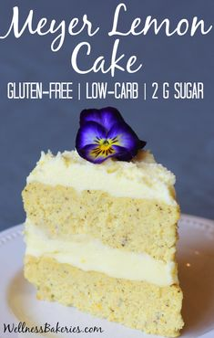 This recipe is perfect for any spring gathering and would make a beautiful finishing touch to your Easter table. And not only is this delicious lemon cake gluten free, each rich and decadent slice has less than two grams of sugar per serving – and that includes the frosting!