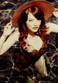 Emma Stone...water