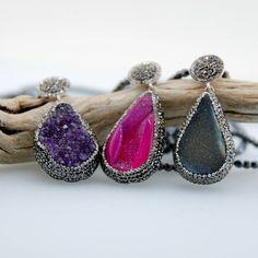 Amethyst Druzy Gemstone Pink Druzy Gemstone Chrysoprase