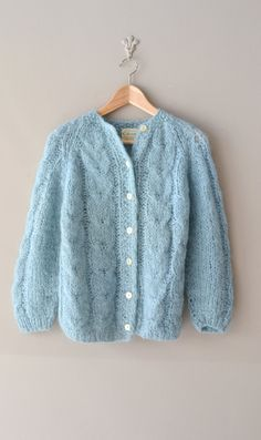 1960s sweater / 60s mohair cardigan / Cumulus par DearGolden, $38.00....got this sweater as a Christmas gift in Grade 9...1963...loved it....