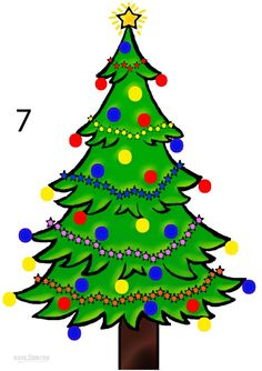 How to Draw a Christmas Tree Step 7