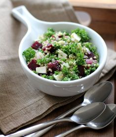 This bright salad with parsley, beets, feta, and lemon is a twist on the classic Tabbouleh salad.
