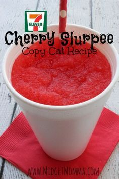 7-Eleven Slurpee Copy Cat recipe. Skip having to go to 7-11! You can make this copy cat right at home whenever you want it!