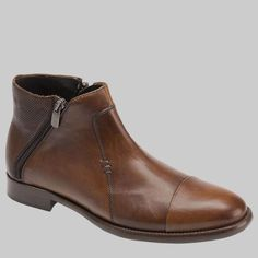 Bacco Bucci Zarra Mens Shoes Tan European Calfskin Boots (BB1009) Material: Unique Combination Of Hand-Burnished Smooth And Embossed European Calfskin Hardware: Silver Color: Tan Outer Sole: Combined Rubber And Leather Sole Insole: Comfort-Foam Cushioned Insole Dress-Casual Cap Toe Boot With Double Side Zipper Comes with original box and dustbag Handmade in Spain 3115-88-TAN Sizes listed in US sizing Ankle Boots Men, Mens Shoes Boots, Men's Shoes, Shoe Boots, Dress Suits For Men, Mens Designer Shoes, Italian Shoes, Dress With Boots, Chelsea Boots