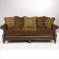 Nebraska Furniture Mart – Ashley Truffle Durablend Sofa