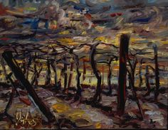 December, remains of the day, Niagara Escarpment, 11x14in, 2012, sold
