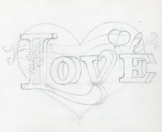 How to Draw Pretty Letters | How To Draw A Heart