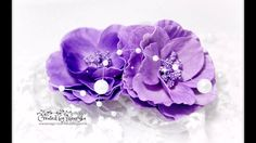 Foamiran Flowers Tutorial what you need: foamiran foam, colour inks and sponges flowers die cut big shot maschine or similar hot glue gun stick iron flowers . Diy Lace Ribbon Flowers, How To Make Paper Flowers, Big Flowers, Fabric Flowers, Magic Crafts, Diy And Crafts, Paper Crafts, Origami Paper, Flower Tutorial
