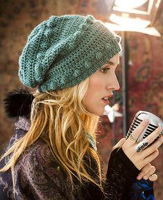 crochet bobble hat by candi jensen, may 2012 vogue crochet magazine