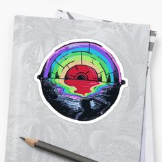 Abstract rainbow colored eye in the horizon • Millions of unique designs by independent artists. Find your thing. Eye Stickers, Cool Stickers, Rainbow Eyes, Rainbow Colors, Avocado, Finding Yourself, Japanese, Artists, Halloween