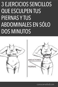 3 Ejercicios sencillos que esculpen tus piernas y tus abdominales en sólo dos minutos #salud