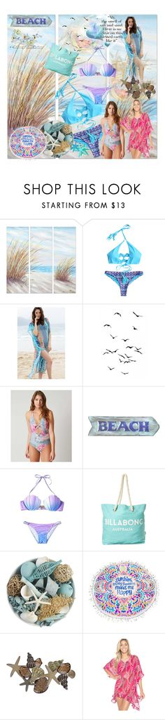"""""""Nothing like a day at the beach!"""" by lawvel ❤ liked on Polyvore featuring Yosemite Home Décor, Isabella Rose, Billabong and Pier 1 Imports"""