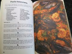 2 column ingredients, steps numbered in center Pot Roast, Paella, Layout Design, Ethnic Recipes, Ideas, Food, Spain, Roast Beef, Meal