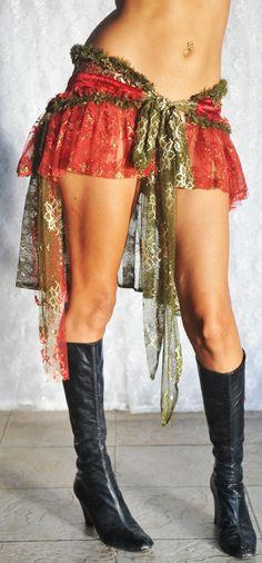 Gypsy Bustle Belt in Velvet and Lace by PoisonBabe on Etsy, $65.00