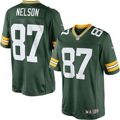 98aeb025f81 Jordy Nelson Men s Limited Green Jersey   87 Green Bay Packers Home Eddie  Lacy