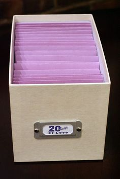 DIY Birthday Gift- 20 Days of Love. Have friends and family do anything that can fit in an envelope. Then have the person open one envelope a day. I would totally want this!