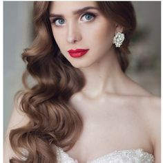 Vintage hairstyles, long waves, curls, wedding hairstyles