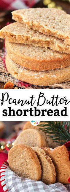 Are you looking for an easy but unique Christmas cookie? This Peanut Butter Shortbread recipe is your winner! It's crumbly and buttery like traditional Scottish shortbread, but with flavours of peanut butter and honey all the way through. The best twist o Butter Shortbread Recipe, Shortbread Recipes, Butter Recipe, Scottish Shortbread Cookies, Vegan Butter, Just Desserts, Delicious Desserts, Dessert Recipes, Yummy Food