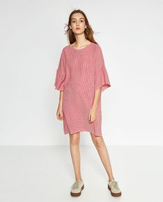 Image 1 of DRESS WITH FRILLY SLEEVES from Zara