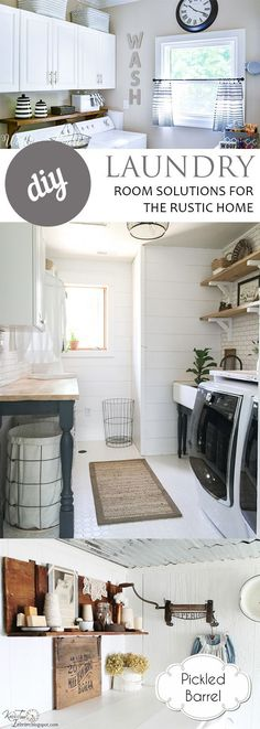 DIY Laundry Room Solutions for the Rustic Home // Pickled Barrel