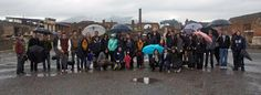 The Sant'Anna Study abroad students on an excursion to the ancient city of Pompeii. A little rain couldn't stop them! #CitiesOfFire #Pompeii #StudyAbroad
