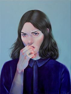 """Paintings by artist Martine Johanna, from her solo show """"The Grand Illusion of Sanity"""" which is..."""