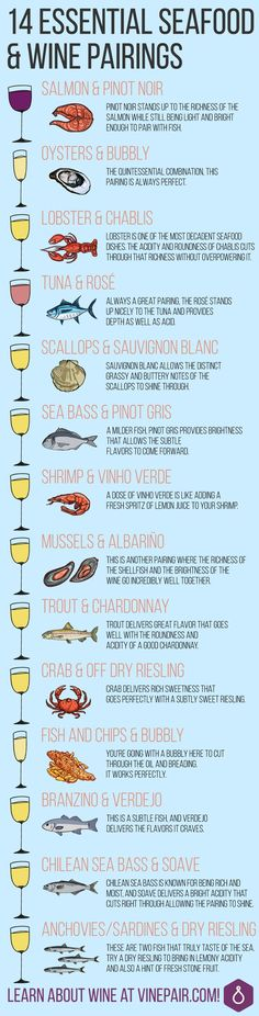 Get Expert Wine Pairings For 14 Of The Most Popular Seafood Dishes!