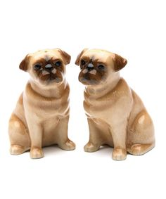 Look what I found on #zulily! Pug Salt & Pepper Shakers by Cosmos #zulilyfinds