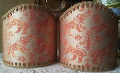 Pair of  Wall Sconce Clip-On Shield Shades by OggettiVeneziani
