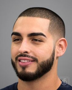 buzz cut shaped with connected beard haircut - Men Hairstyles 2019 Quiff Hairstyles, Black Men Hairstyles, Cool Hairstyles For Men, Haircuts For Men, Men's Haircuts, Popular Beard Styles, Best Beard Styles, Beard Images, Low Maintenance Haircut