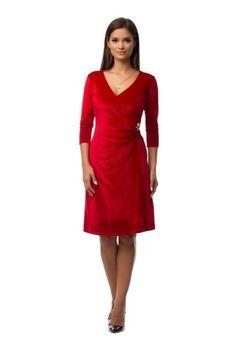 Rochie eleganta rosie din catifea VV06 -  Ama Fashion Dresses For Work, Fashion, Moda, Fashion Styles, Fashion Illustrations