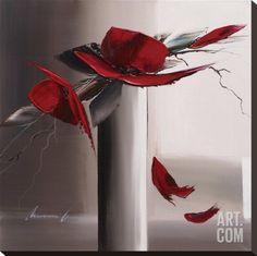Art.fr - Tableau sur toile 'En Rouge Et Gris II' par Olivier Tramoni