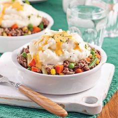 Hachis parmentier au fromage Ground Beef, Entrees, Mashed Potatoes, Casserole, Main Dishes, Recipies, Lunch, Meals, Breakfast