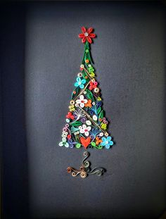 Paper Quilling Christmas Tree Wall Art. by SweetPaperDesignSol