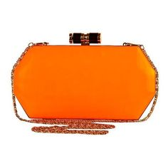 bright orange clutch bag (€34) ❤ liked on Polyvore featuring bags, handbags, clutches, bolsas, carteras, orange, orange handbags, bright colored handbags, bright purses and bright handbags