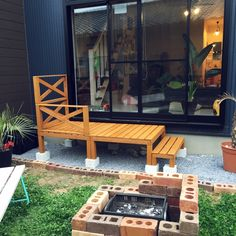 maaaiさんの、玄関/入り口,観葉植物,ガーデニング,DIY,カフェ風,ウッドデッキ,ヤシ,のお部屋写真