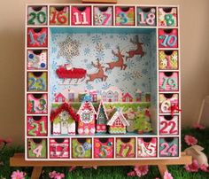 Advent Calendar, love it (searching for a link that works, pinning bc I love the style) Christmas Countdown, Noel Christmas, All Things Christmas, Advent Calenders, Diy Advent Calendar, Advent Box, Advent House, Christmas Shadow Boxes, Navidad Diy